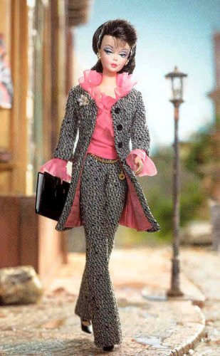 Barbie Collectibles, Fashion Model Silkstone Barbie: A Model's Life Giftset with Doll & Outfits