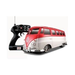 Maisto Tech 1:10 Red & White Volkswagon Bus Van