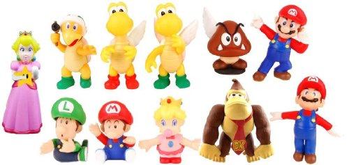 Super Mario スーパーマリオ Bros Pvc Figure Collectors Set Of 11 フィギュア 人形 おもちゃ