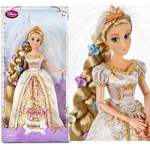 Disney Exclusive Tangled Ever After 12 Inch Rapunzel Wedding Doll Flowers In Hair