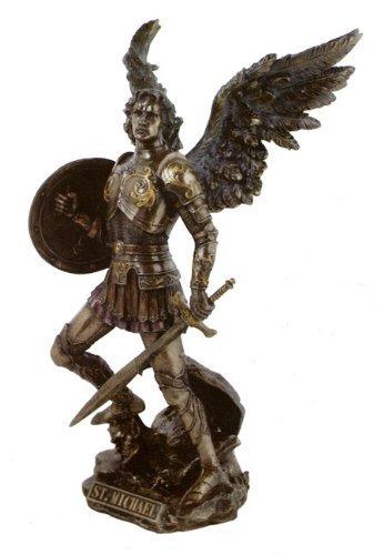 大天使 聖ミカエル スタチュー 西洋 彫刻 フィギュア ブロンズ像 置物