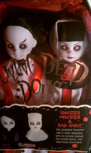 Living Dead dolls: Sinister Minister & Bad Habit White Version 人形 ドール