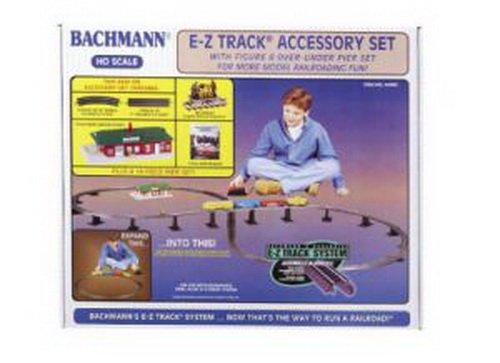 Bachmann HO Scale Train E-Z Track System Steel/Black Accessory Set - 44493