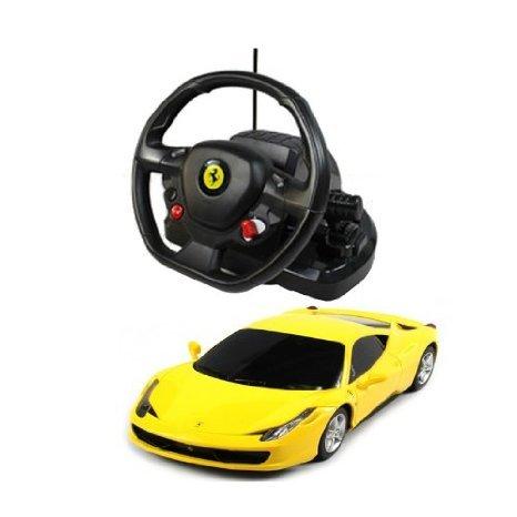 1:18 Scale Ferrari 458 Italia Model ラジコンカー With Steering controller (COLOR: YELLOW) おもちゃ