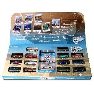 Route 66 1:64 スケール ダイキャスト 15-Piece Vehicle Set ミニカー ダイキャスト 車 自動車 ミニチュ