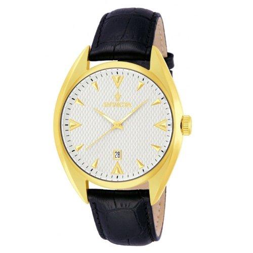 [インヴィクタ]Invicta 腕時計 VINTAGE SILVER DL QTZ 3H GOLD BLACK LTHR 12211