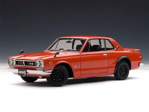 ダイキャストカー 日産 スカイライン GT-R 1st Generation (KPGC10) レッド 1/18