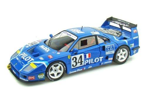 Hot Wheels (ホットウィール) Ferrari (フェラーリ) F40 Competizione Racing Le Mans 1995 Pilot #34 1/