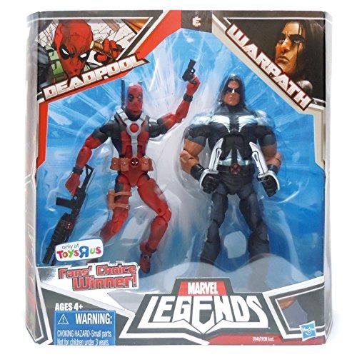 マーベル レジェンド Marvel Legends 6インチ デッドプール(赤) + ワーパス 2体セット