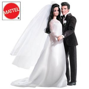 Elvis & Priscilla Wedding Barbie(バービー) Dolls Set ドール 人形 フィギュア