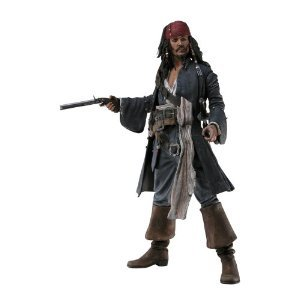 NECA Pirates of the Caribbean Dead Mans Chest 18 Inch Talking Figure Capt. Jack Sparrow