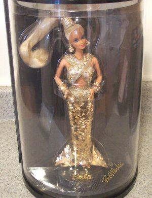 Bob Mackie Gold Barbie バービー Doll W/case, 1990 人形 ドール