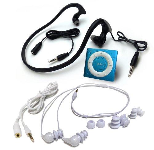 水泳用iPod Shuffle 防水仕様 Underwater Audio Waterproof iPod Mega Bundle  (Blue)