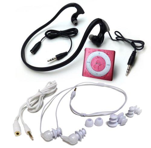 水泳用iPod Shuffle 防水仕様 Underwater Audio Waterproof iPod Mega Bundle  (Pink)