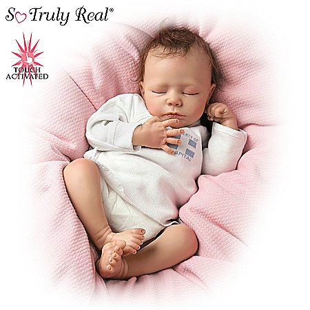 Andrea Arcello Tiny Miracles Ashley Collectible Lifelike Miniature Breathing Baby Doll: So Truly R