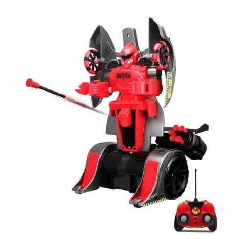 Maisto Twist & Shoot Remote Control Street Trooper Robot Car Red & Gray おもちゃ