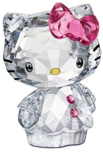 スワロフスキー SWAROVSKI クリスタル フィギュア Hello Kitty Pink Bow (ハローキティ ピンクリボン) He