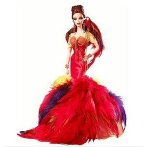2008年製 The Scarlet Macaw Barbieフラミンゴバービーフィギュア人形 1/6