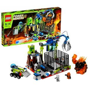Lego (レゴ) Year 2010 Power Miners Series Set # 8191 - LAVATRAZ with Projectile Launcher, Hydro-Bl