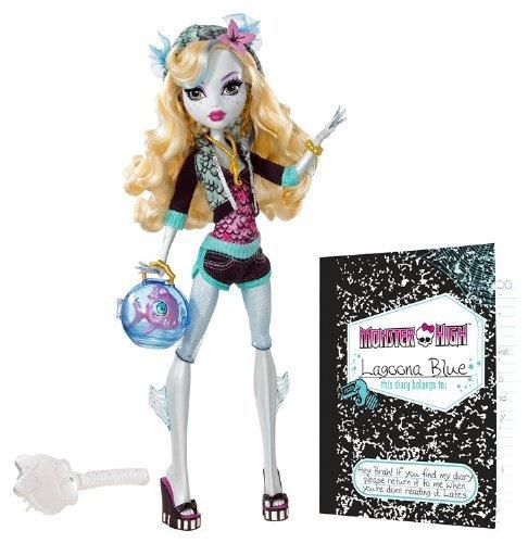 モンスターハイ Monster High Lagoona Blue Doll and Neptuna Pet Piranha