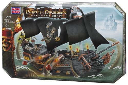【超安い】 MEGA BLOKS of Pirates of the the Caribbean Black BLOKS Pearl Ship Playset #01017U, 八女郡:76b7a215 --- blablagames.net