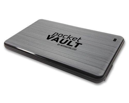 MyDigitalSSD PocketVault SuperSpeed USB 3.0 Portable External Solid State Storage Drive SSD (512GB