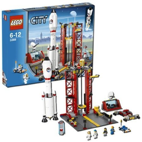 Includes 2 Astronauts, An Operator And A Mechanic - LEGO (レゴ) Space Center 3368 ブロック おもち