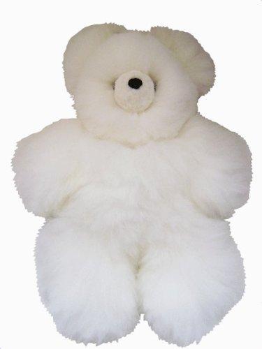 White Alpaca ふるさと割 アルパカ テディベア - Baby 奉呈 Fur 15 インチ ぬいぐるみ