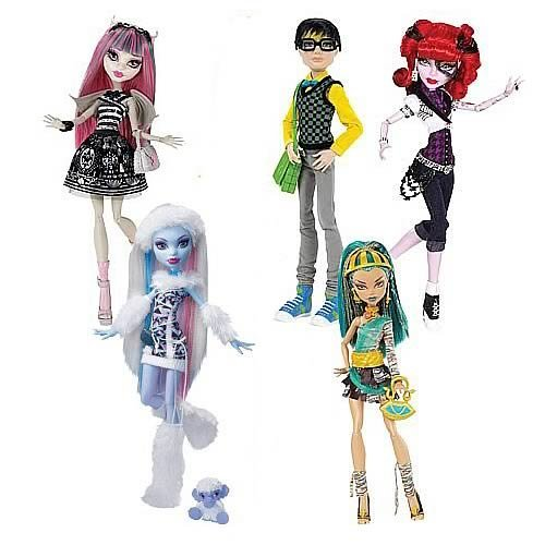 Monster High モンスターハイ Doll Assortment Wave 7 Case Abbey Bominable, Rochelle Goyle, Jackson J