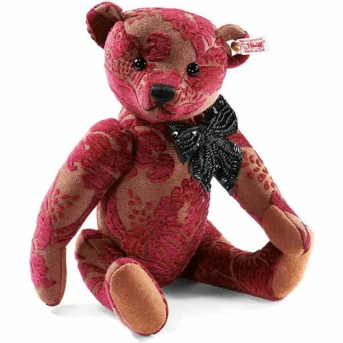 Steiff 2011 Viktoria Burgundy Teddy Bear 人形 ドール
