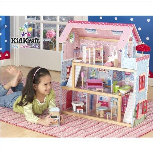 キッドクラフト(KidKraft) チェルシー人形コテージ家具付き