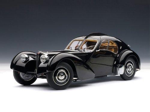 ダイキャストカー 1938 ブガッティ アトランティック 57SC ブラック Disc Wheels 1/18