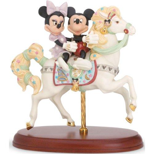 LENOX(レノックス)社製 白磁フィギュア 『ミッキーズ カルーセルロマンス』 ミッキーマウス&フレンズ