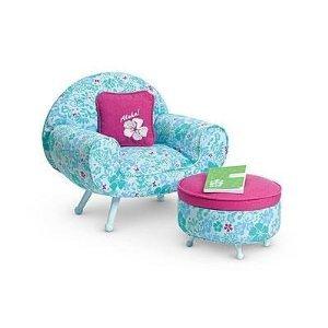 American Girl Doll ドール of 2011 Kanani's Lounge Chair Set with ottoman
