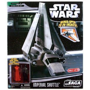 Star Wars Saga '06 Exclusive Vehicle Imperial Shuttle with Darth Vader & 赤 Royal Guard Action Fi