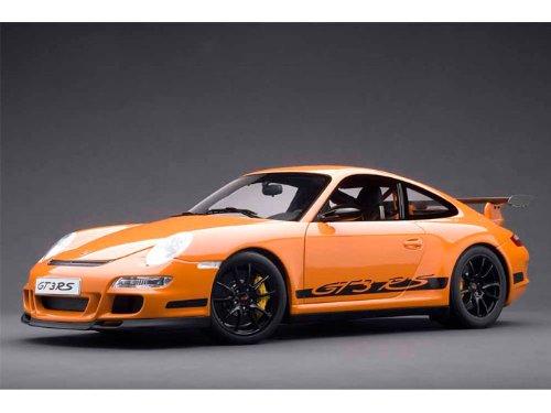ダイキャストカー ポルシェ 911(997) GT3 RS オレンジ/ブラック 1/12