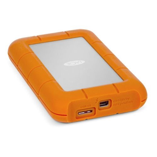 Lacie 9000352 Rugged USB3 Thunderbolt 256GB SSD 380MBps Transfer Rate