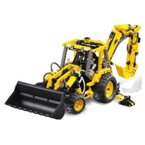 Lego レゴ #8455 Technic Pneumatic Back-hoe Loader (空気装てん (填) 機 )
