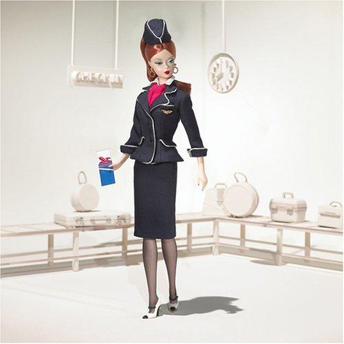 バービー ファッションモデルコレクション スチュワーデスバービー J4256 (日本限定ゴールドラベル)