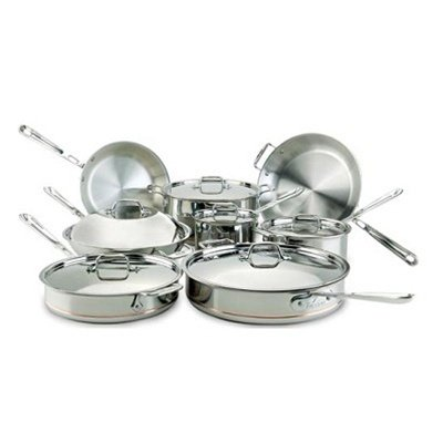 All-Clad オールクラッド Copper-Core 14-Piece Cookware Set