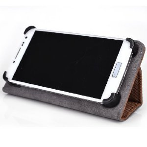 Brown - Kroo Smart Accord Case with Built-in Stand fits Prestigio MultiPhone 4500 Duo おもちゃ