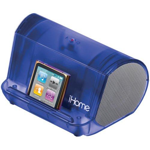 iHome iHM9LT ポータブル スピーカー ブルー iPod iPhone MP3
