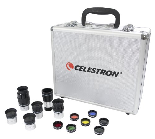 Celestron Telescope Eyepiece and Filter Accessory Kit 94303 w/ Free