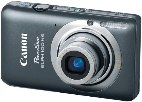 Canon PowerShot ELPH 100 HS デジタルカメラ 12.1 MP CMOS Digital Camera with 4X Optical Zoom (Grey