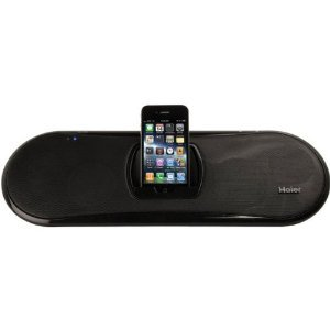 New-HAIER IPDS-20 IPOD(R)/IPHONE(R) SPEAKER DOCK WITH RECHARGEABLE BATTERY - HERIPDS20