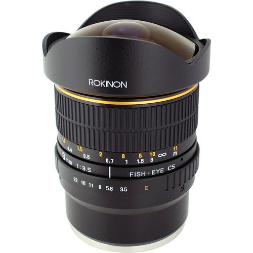 Rokinon 8mm Ultra Wide Angle f/3.5 Fisheye Lens for Sony E Mount Cameras