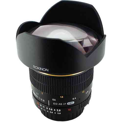 Rokinon ロキノン 14mm Ultra Wide-Angle f/2.8 IF ED UMC Lens 広角 For Nikon With Focus Confirm Chip
