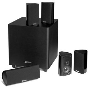 Polk ポーク Audio RM705 5.1 Home Theater System (Set of Six, Black)