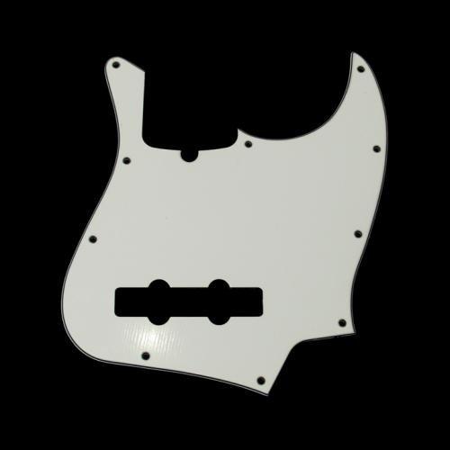 フェンダー USA 純正パーツ Fender Pickguard Standard Jazz Bass 10 Holes White (w/ truss rod notch)