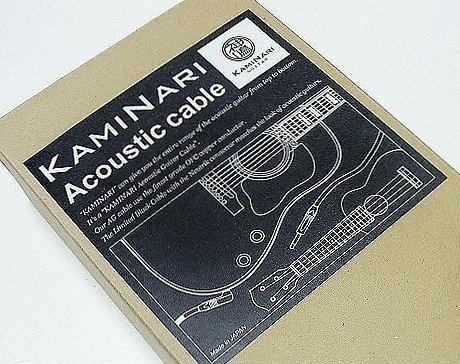 KAMINARI K-ACBK7SS エレクトリックアコースティックギター専用ケーブル 7m SS
